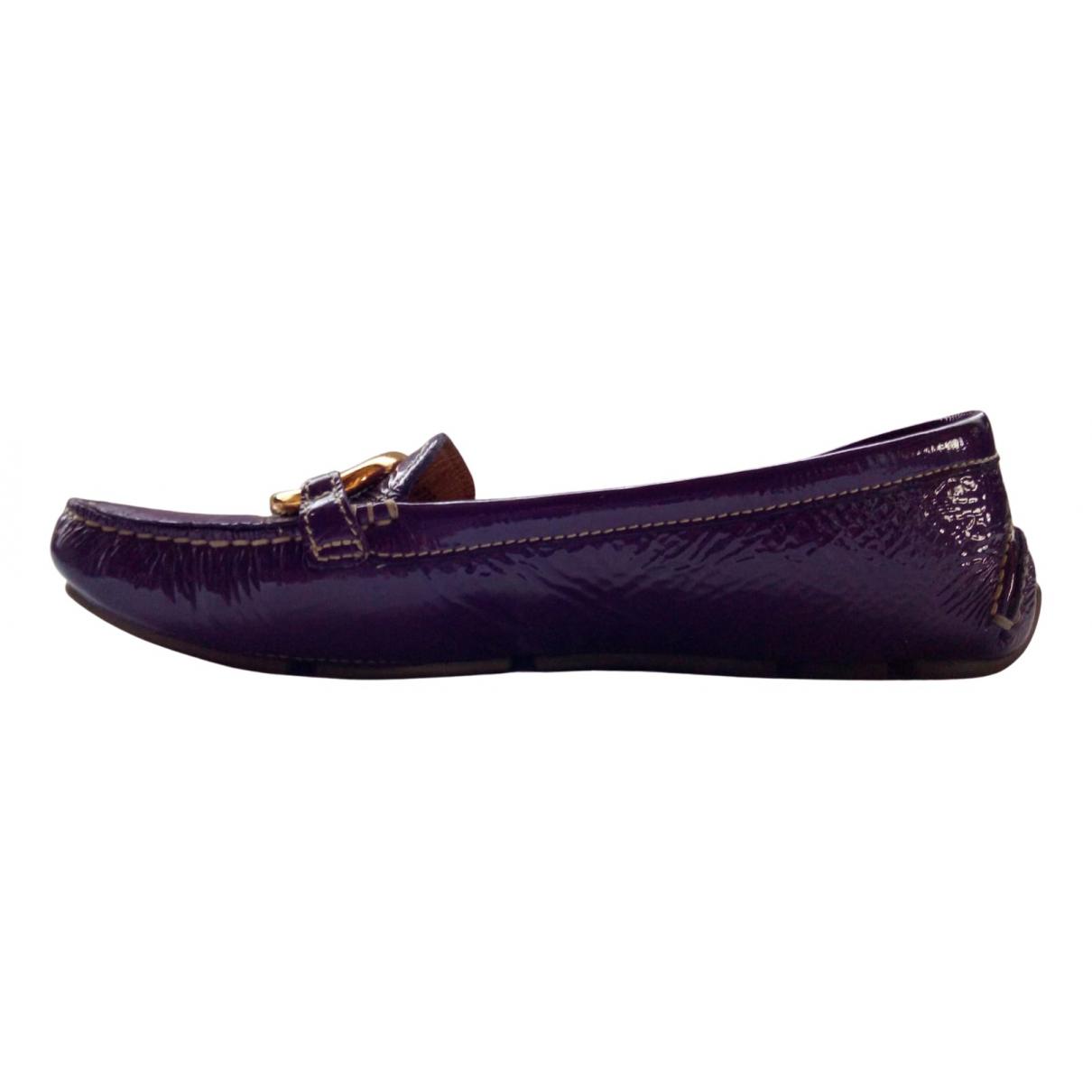 Prada \N Purple Patent leather Flats for Women 38 EU