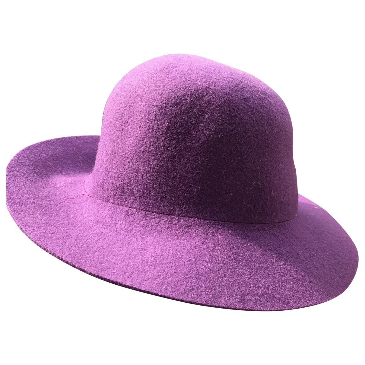 Borsalino - Chapeau   pour femme en laine - violet