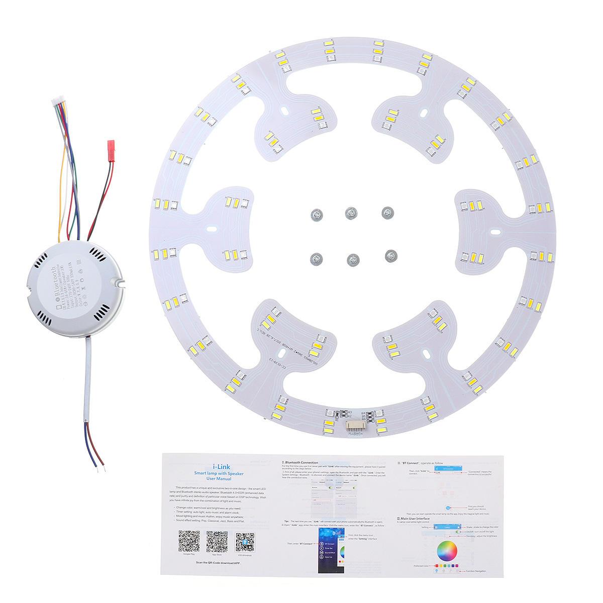 40W Bluetooth Ceiling Light LED Panel Warm White Cold White RGB AC90-245V