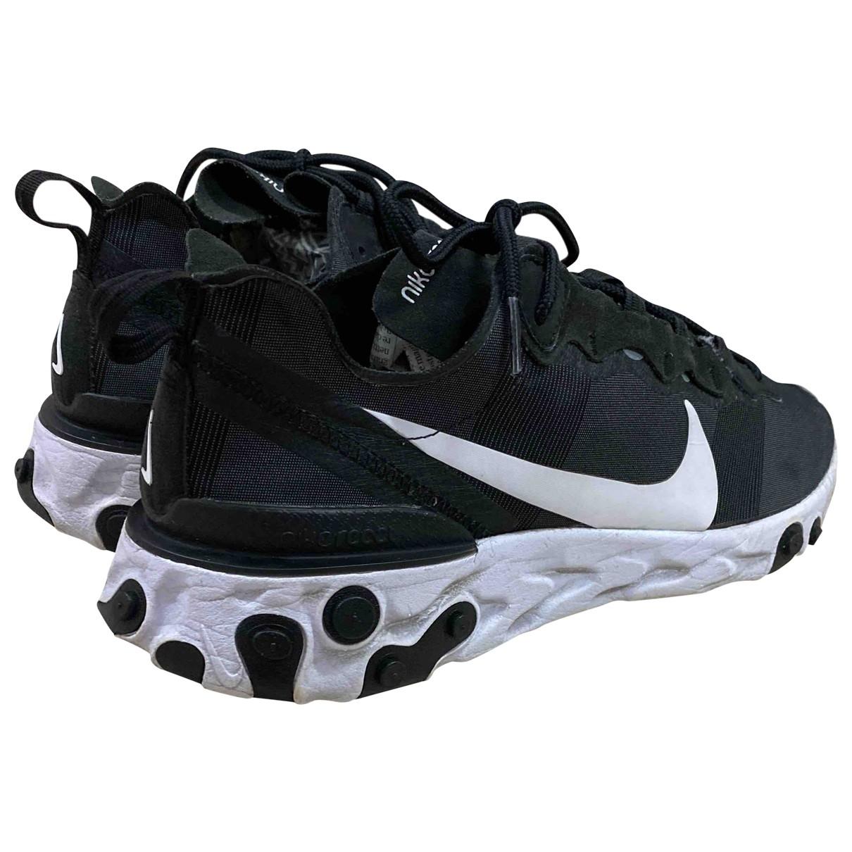 Nike - Baskets React element 55 pour homme en toile - noir