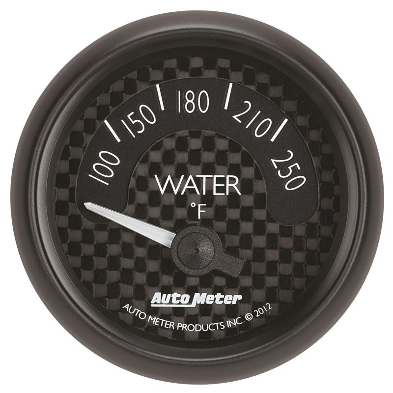 AutoMeter GAUGE; WATER TEMP; 2 1/16in.; 250deg.F; ELEC; GT