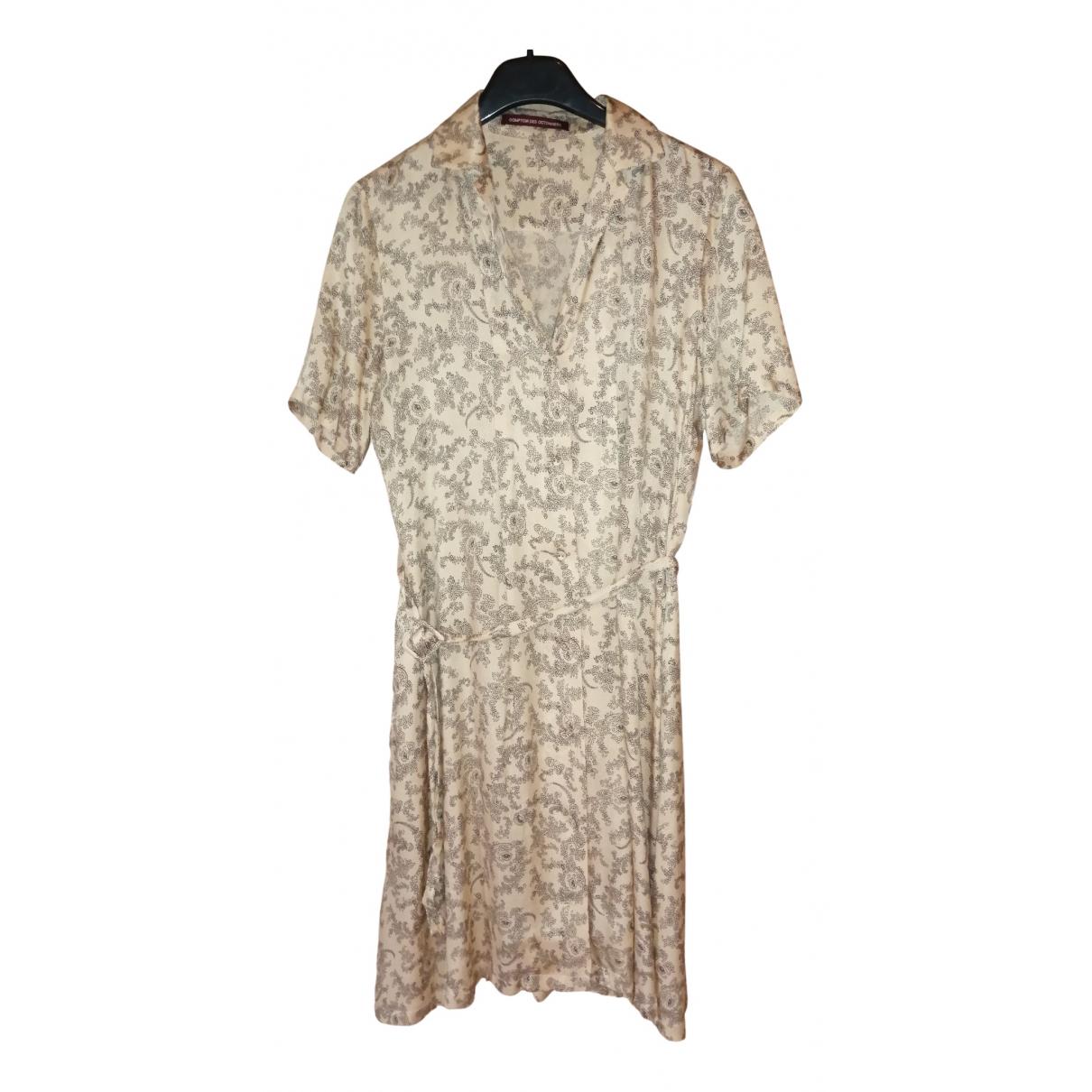 Comptoir Des Cotonniers - Robe   pour femme en soie - beige