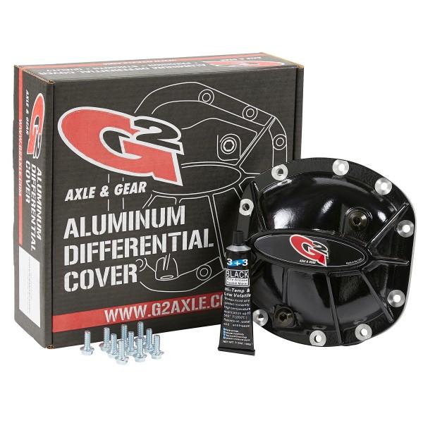 Dana 30 Aluminum Differential Cover Black Powder Coat Finish G2 Axle and Gear 40-2031ALB