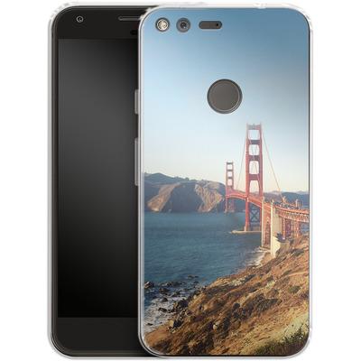 Google Pixel XL Silikon Handyhuelle - Golden Gate Galore von Omid Scheybani