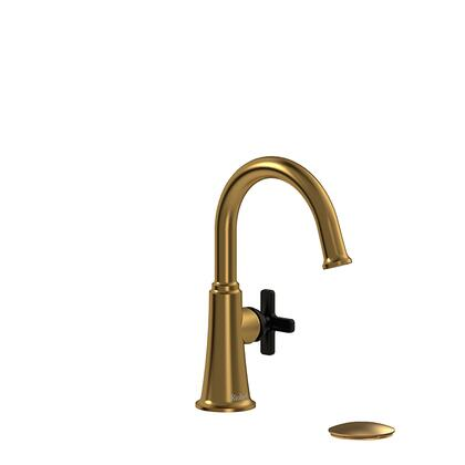 Momenti MMRDS01XBGBK-10 Single Hole Lavatory Faucet with x Cross Handle 1.0 GPM  in Brushed