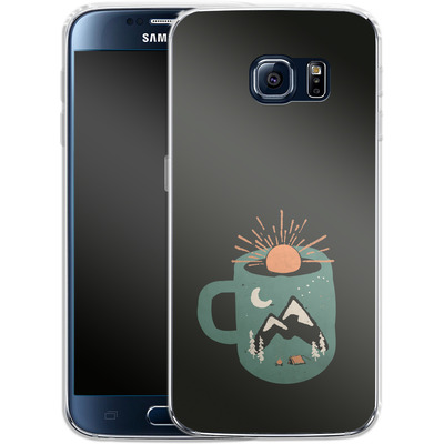 Samsung Galaxy S6 Silikon Handyhuelle - Mountain Morning Wakeup von ND Tank