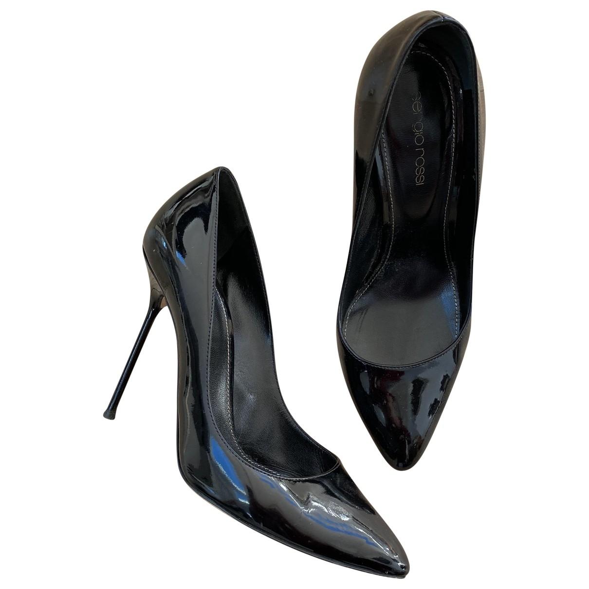 Sergio Rossi - Escarpins   pour femme en cuir verni - noir