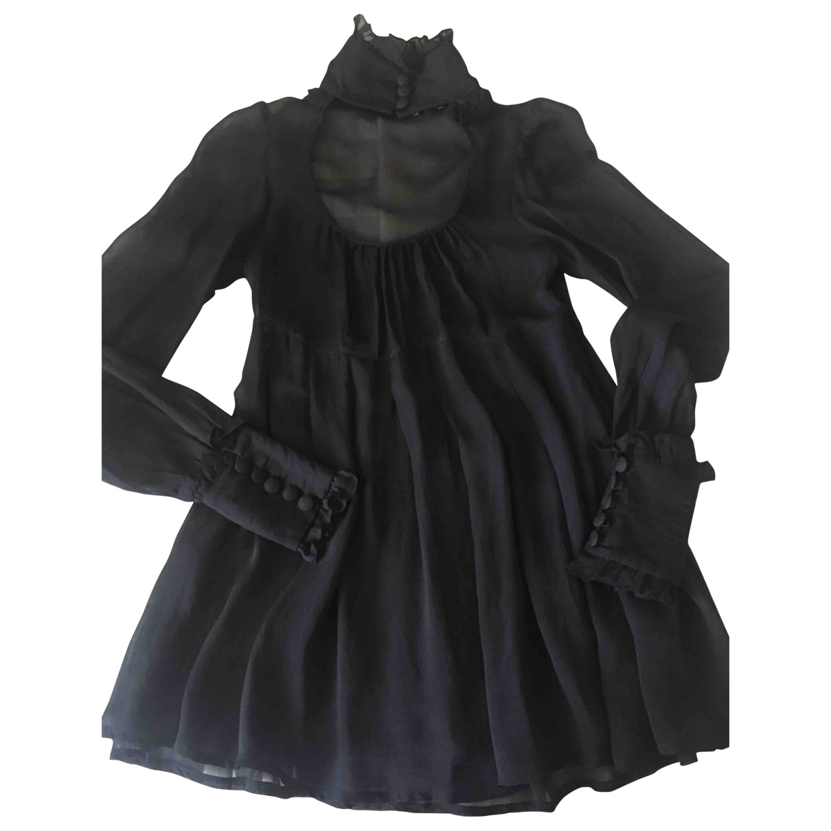 Non Signé / Unsigned \N Black Silk  top for Women 38 IT