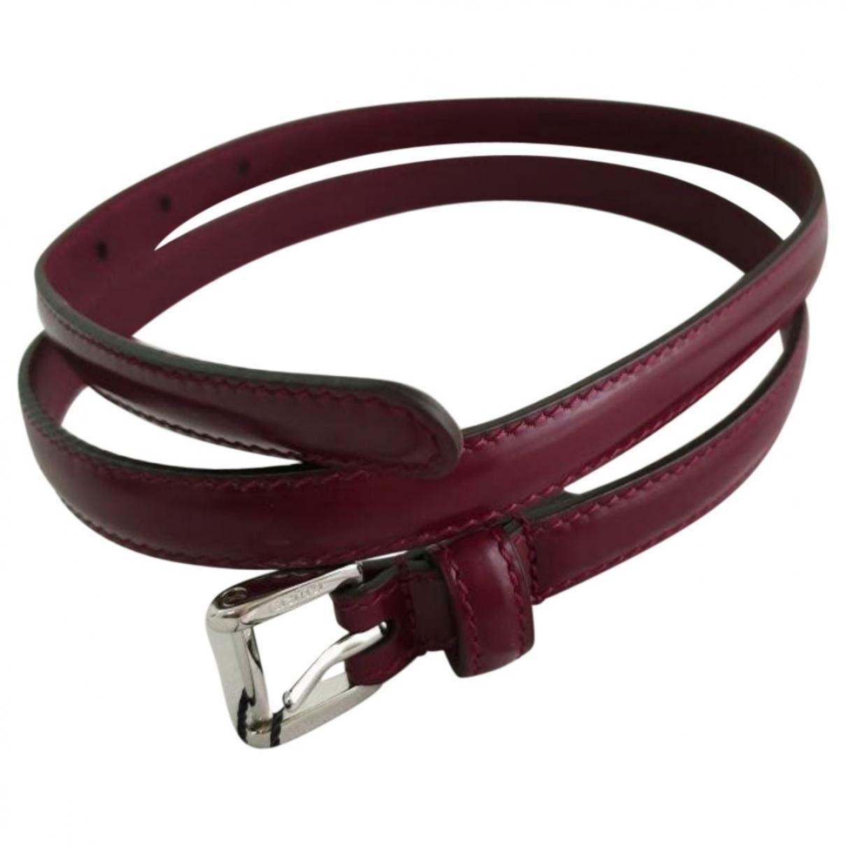 Gucci \N Burgundy Leather belt for Women 80 cm
