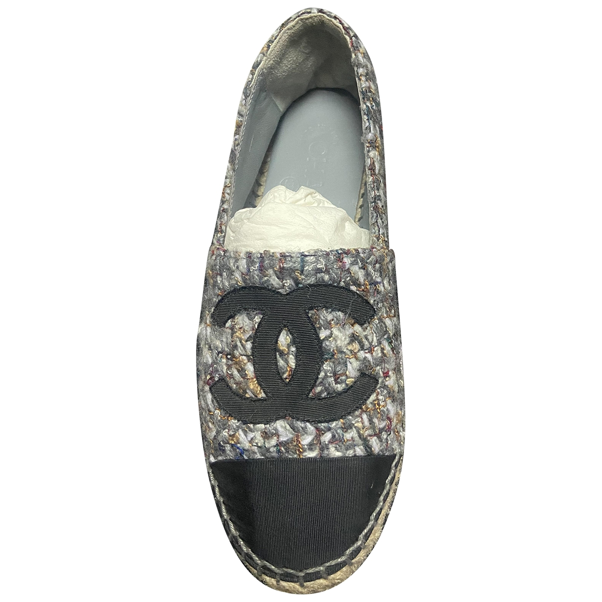Chanel \N Espadrilles in  Grau Synthetik