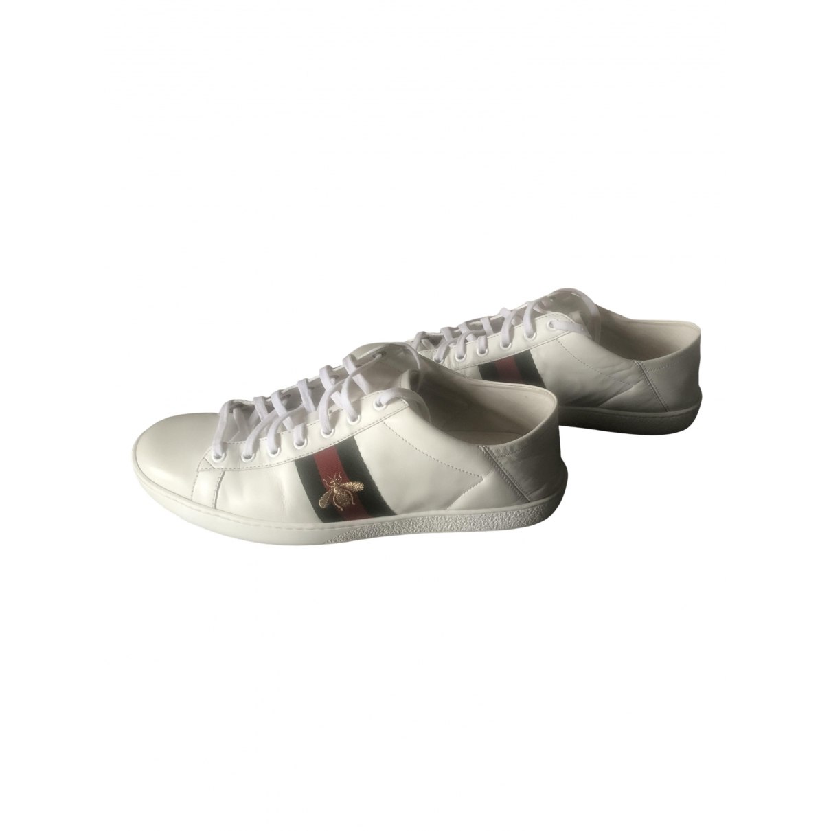 Gucci Ace White Leather Trainers for Men 41.5 EU
