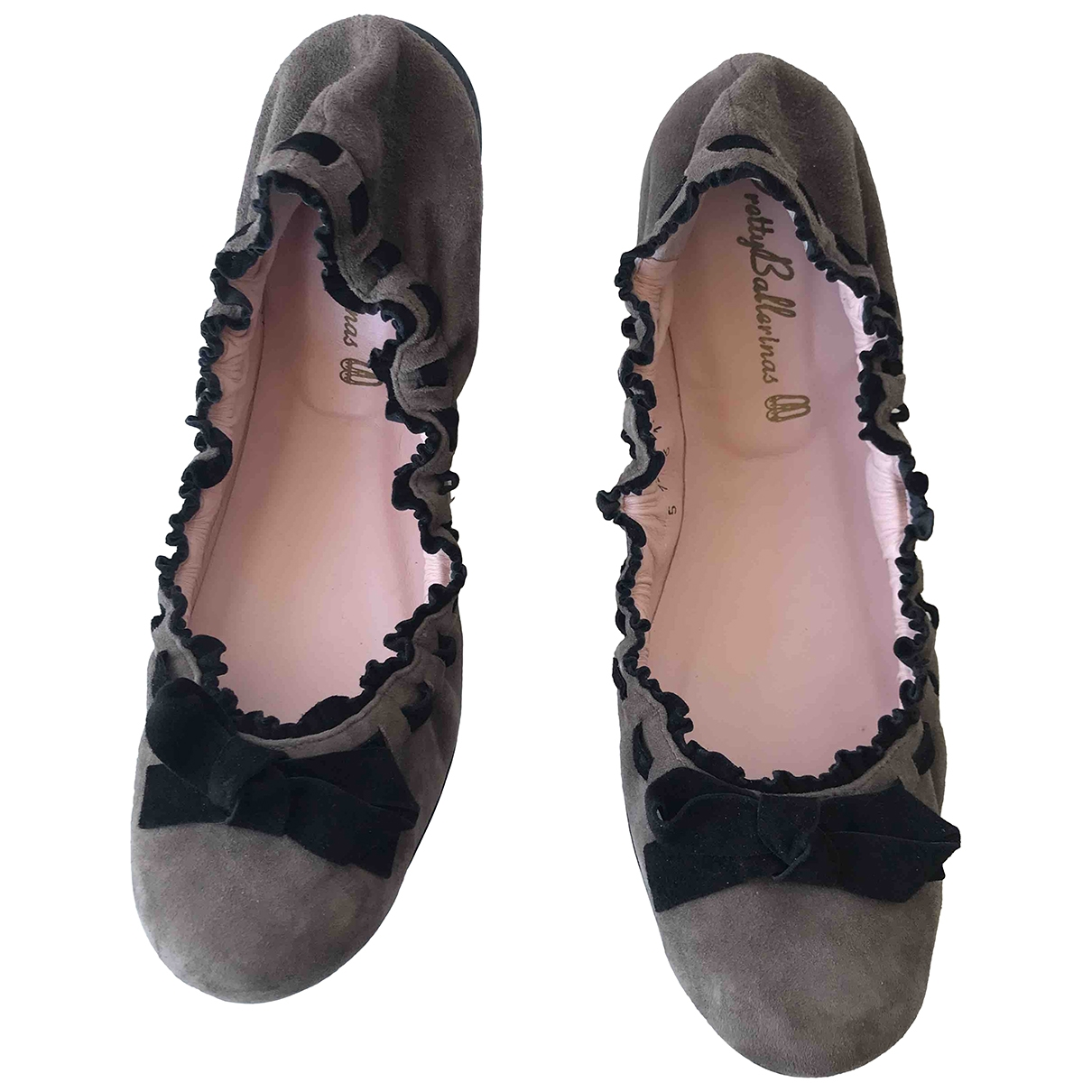 Pretty Ballerinas \N Ballerinas in  Bunt Veloursleder