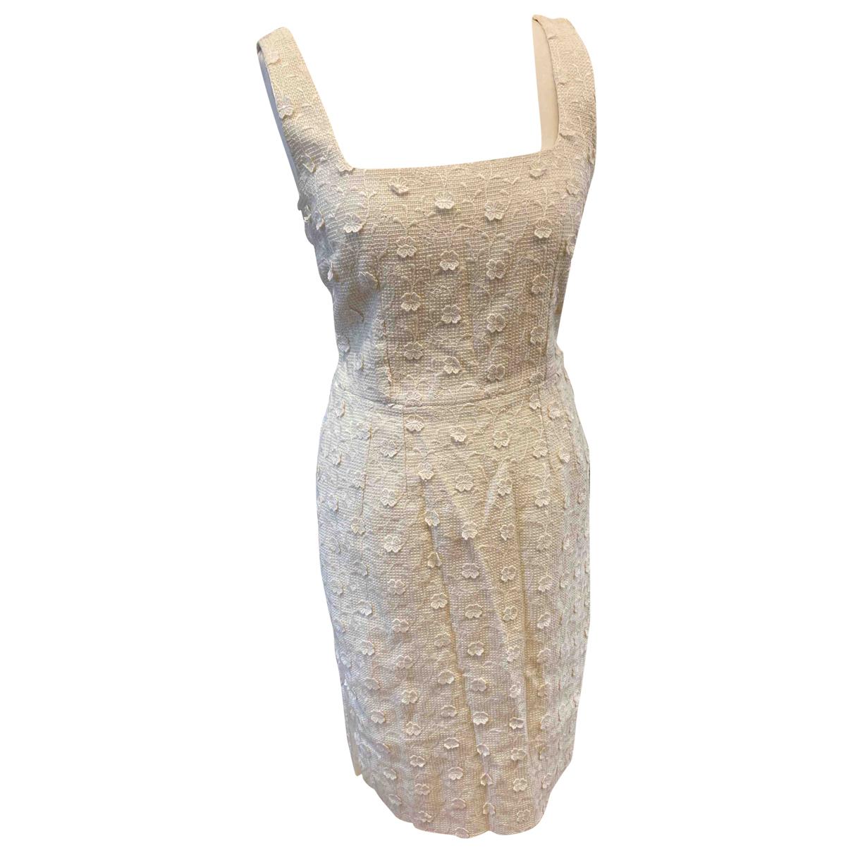 Dolce & Gabbana - Robe   pour femme en coton - blanc