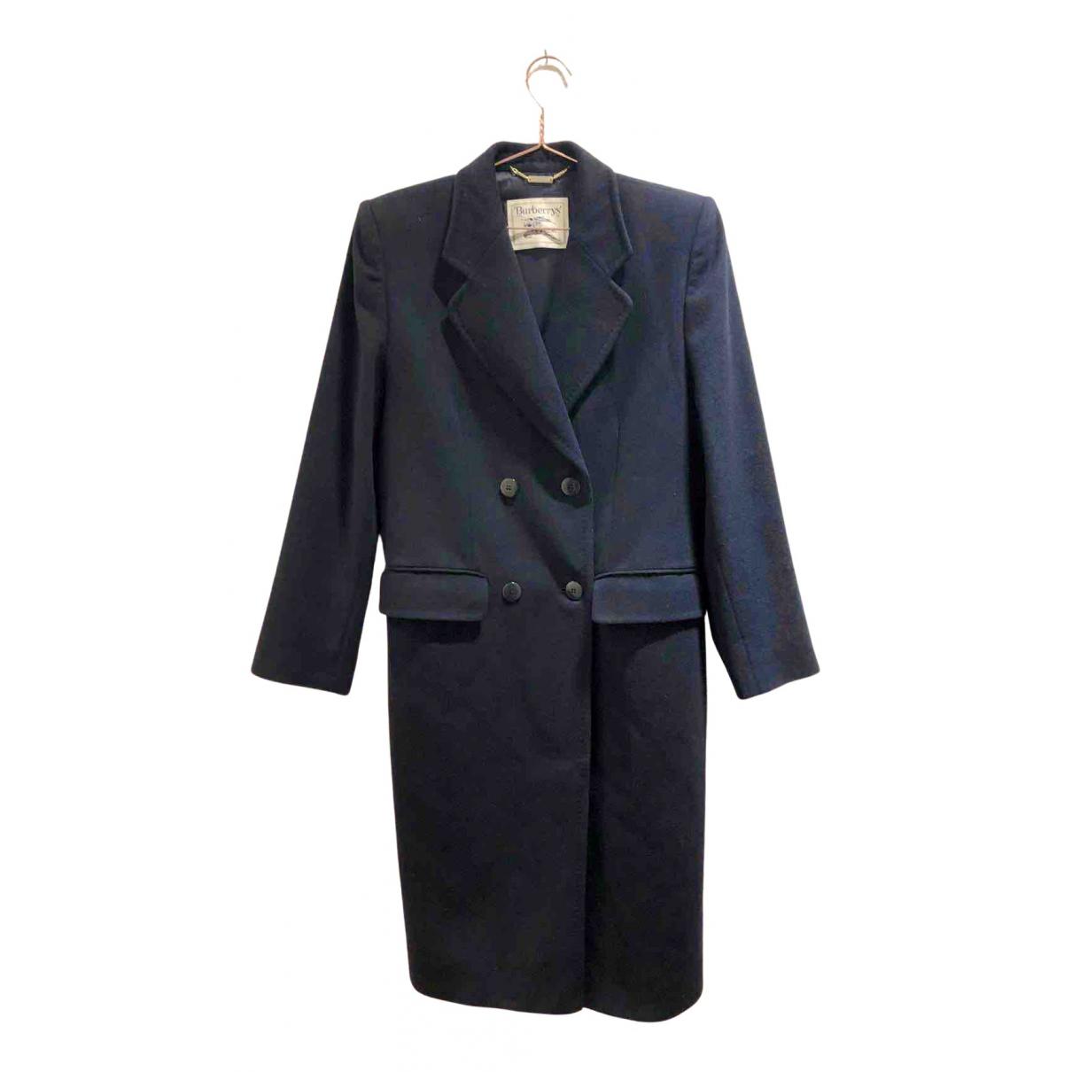 Burberry N Navy Wool coat for Women 40 FR