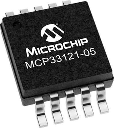Microchip MCP33121-05-E/MS, 14 bit ADC, 10-Pin MSOP (100)