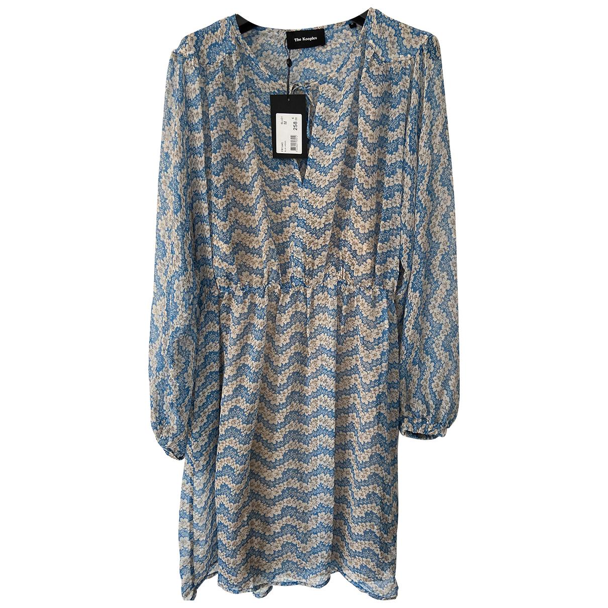 The Kooples Spring Summer 2019 Blue Silk dress for Women M International