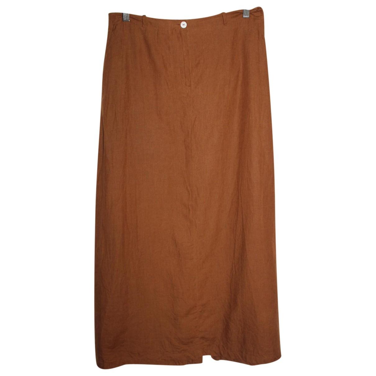 Aigner - Jupe   pour femme en lin - marron