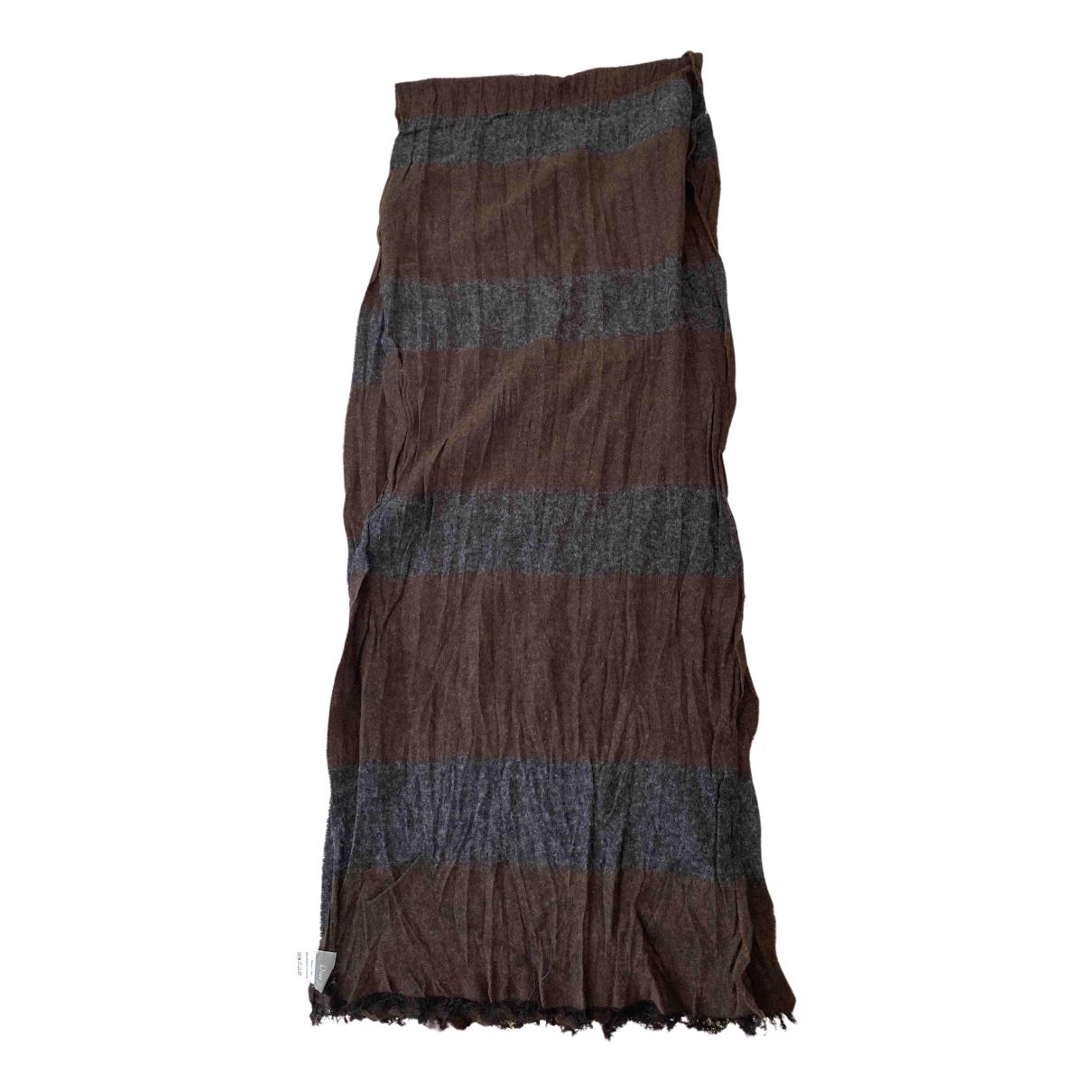 Dior \N Tuecher, Schal in  Braun Wolle