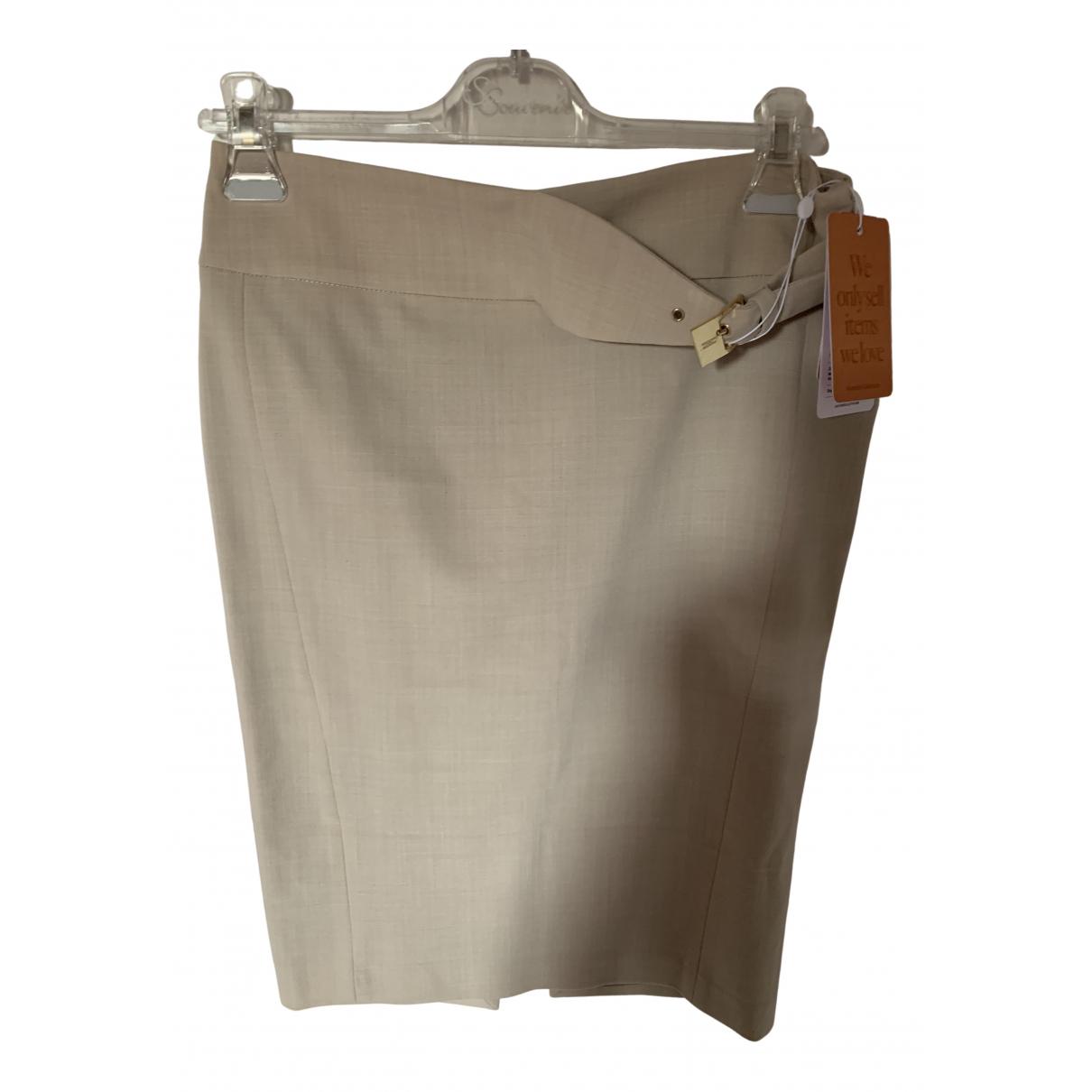Elisabetta Franchi N Ecru Cotton - elasthane skirt for Women 44 IT