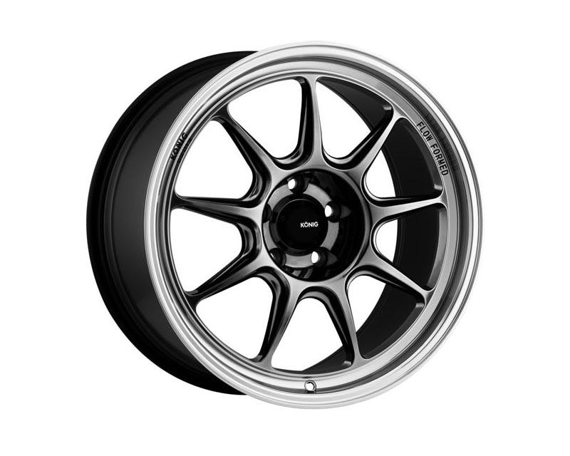 Konig Countergram Wheel 17x8 5x114.3 38 CSGLMM Hyper Chrome / Machined LIP