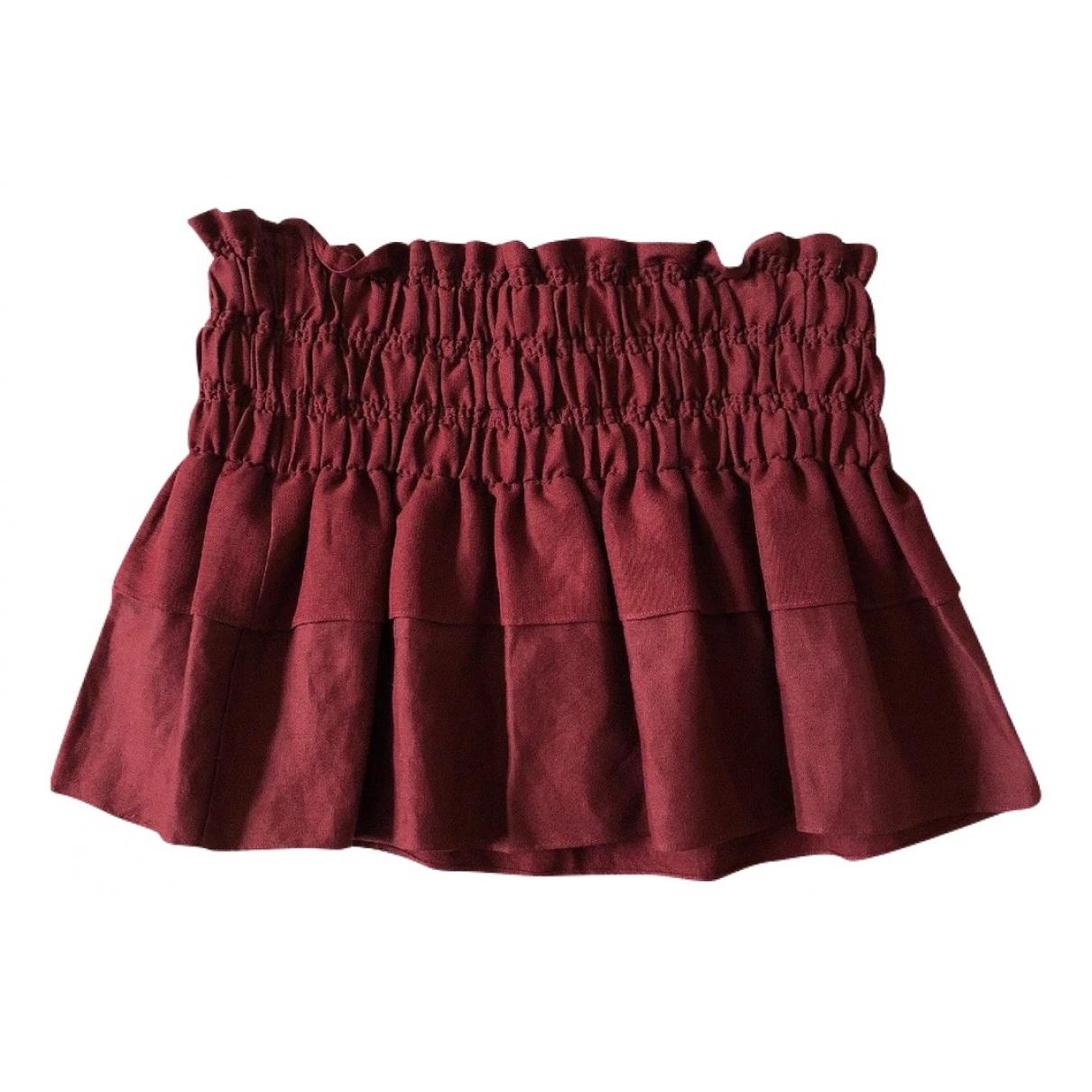 Isabel Marant Etoile N Burgundy Cotton skirt for Women 8 UK