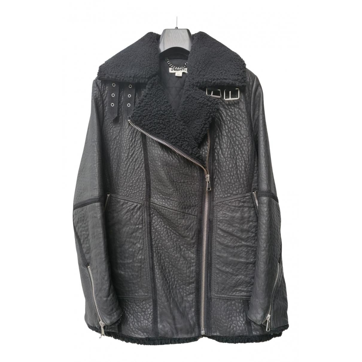 Whistles - Veste   pour femme en cuir - noir