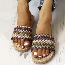 Sandalias de color combinado trenzadas