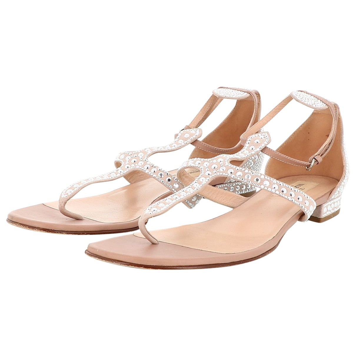 Valentino Garavani \N Silver Leather Sandals for Women 41 EU