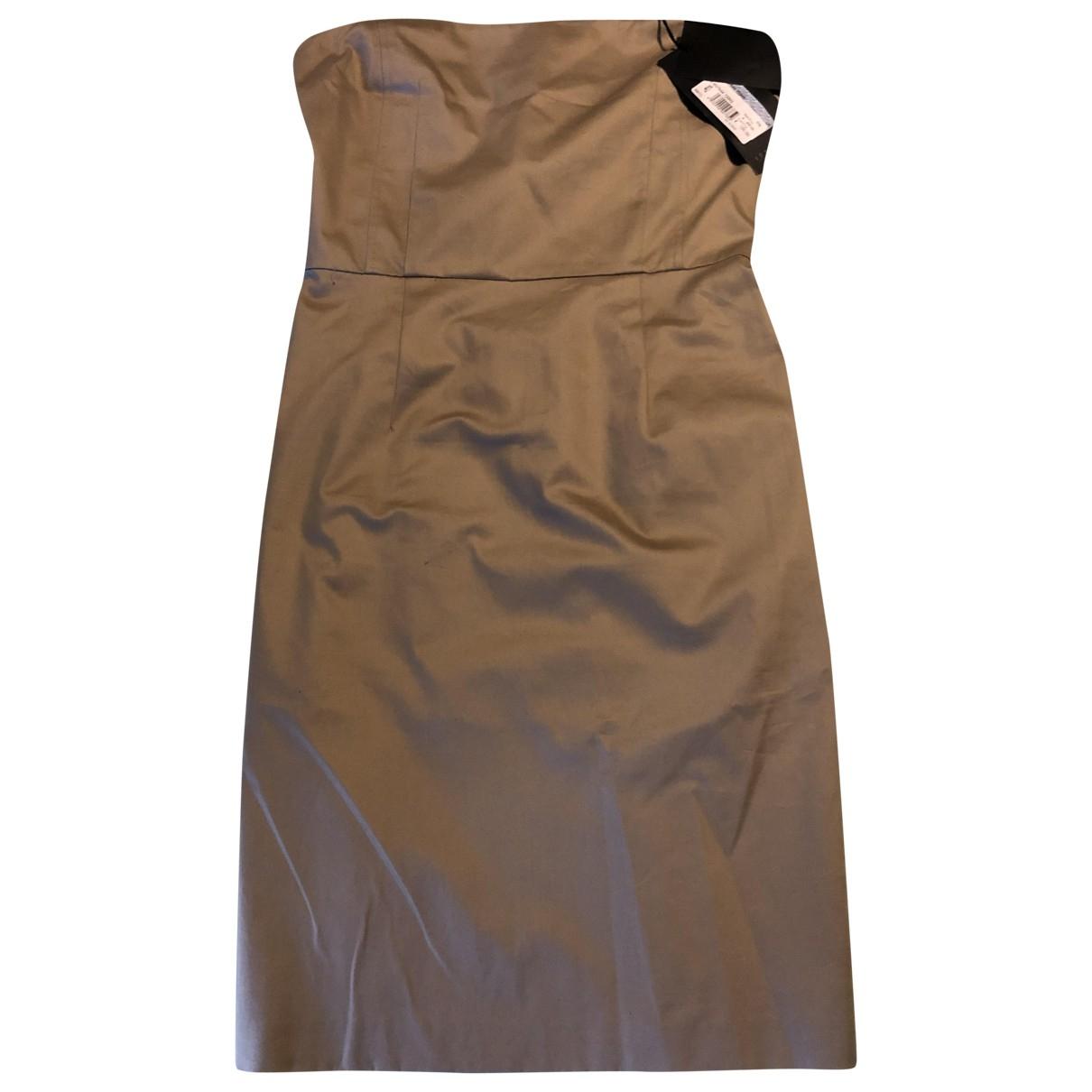 Cnc - Robe   pour femme en coton - beige