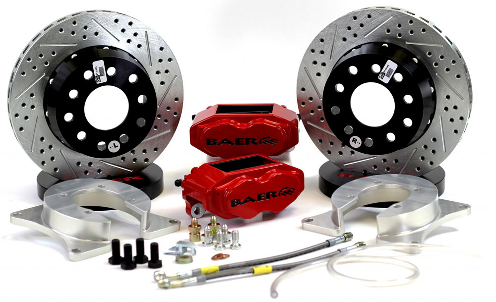 Baer Brakes Brake System 11 Inch Rear SS4+ No Park Brake Red Ford 9 Inch Torino Bearing