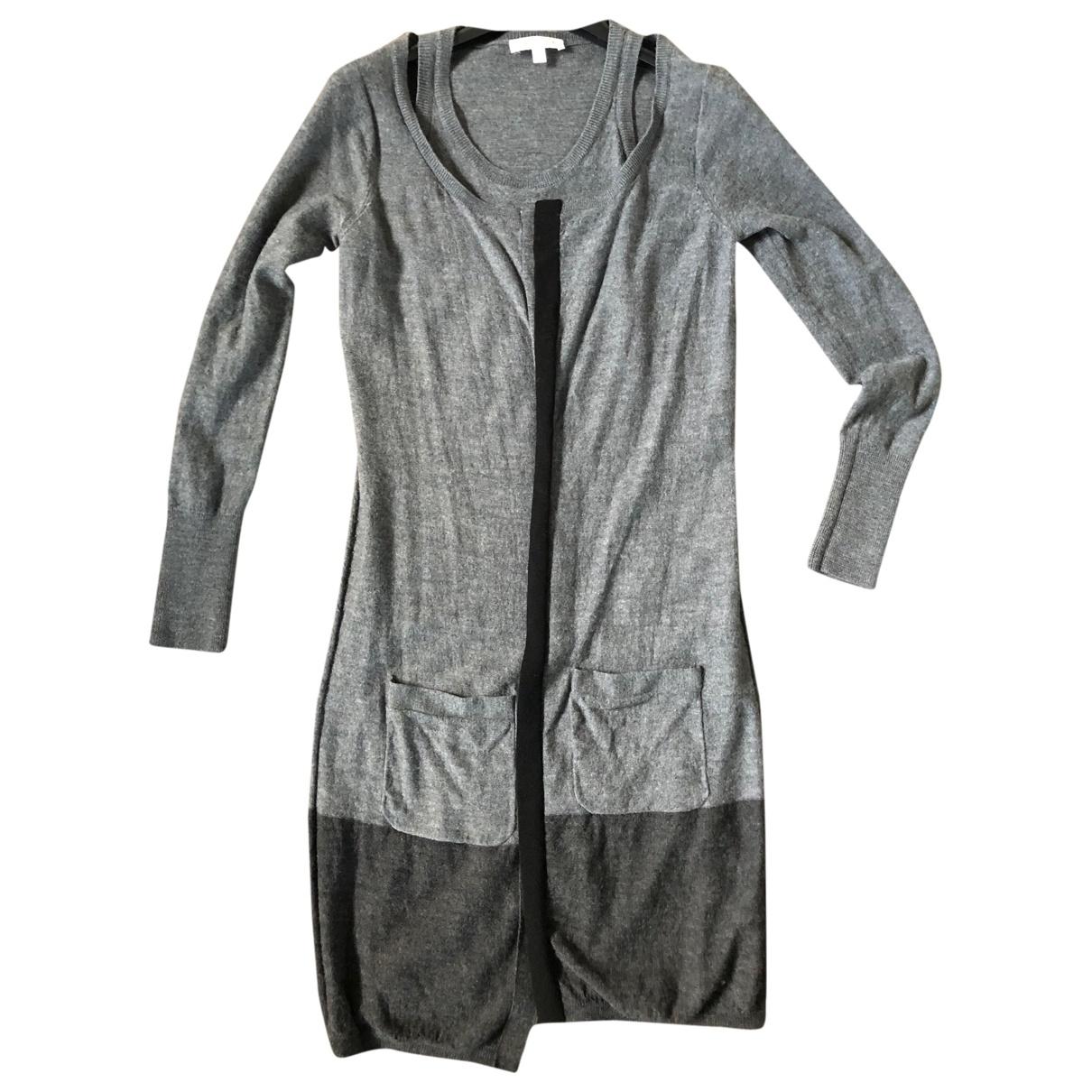 Paule Ka \N Kleid in  Grau Wolle