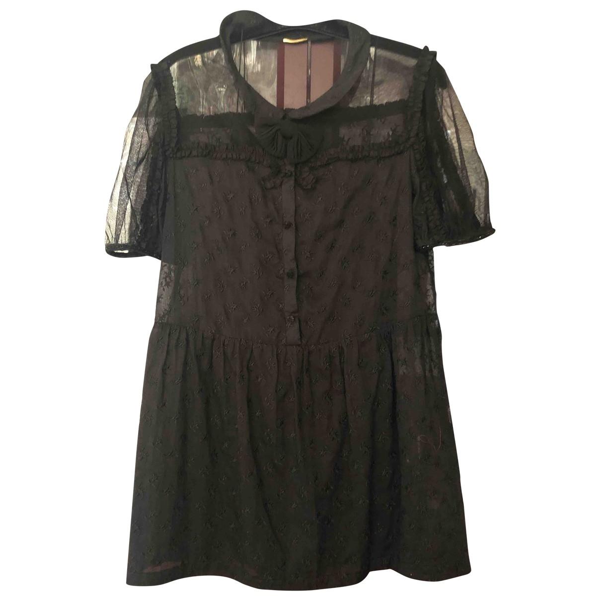 Saint Laurent \N Black Silk dress for Women 42 FR