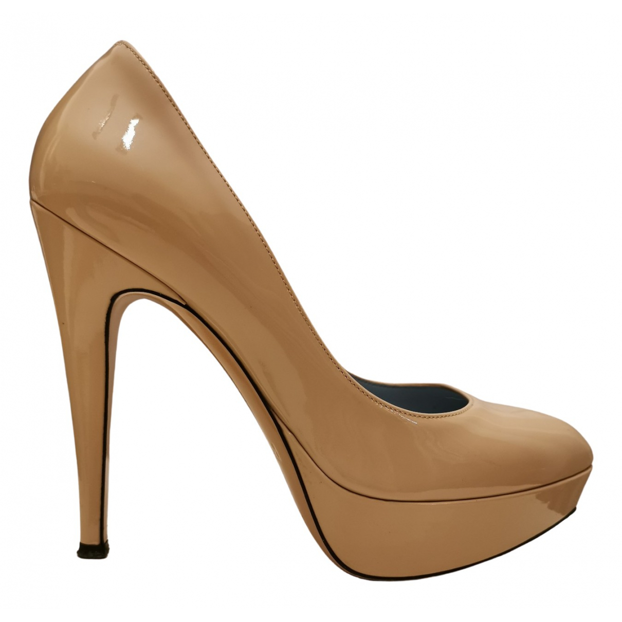 Pollini N Pink Patent leather Heels for Women 37 EU