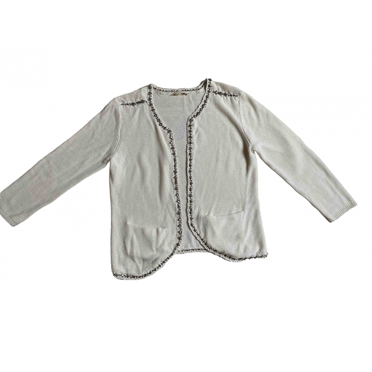 Maje \N Ecru Cotton Knitwear for Women 2 US
