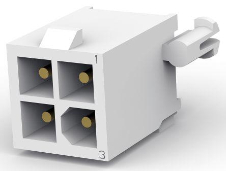 TE Connectivity , Mini-Universal MATE-N-LOK, 4 Way, 2 Row, Straight PCB Header (200)