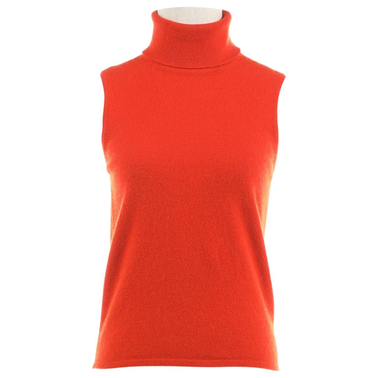 Hermes - Pull   pour femme en cachemire - orange