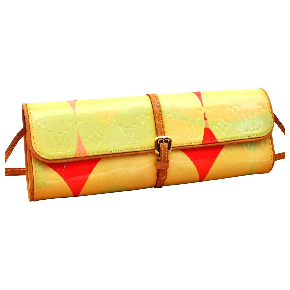 Louis Vuitton \N Yellow Patent leather Clutch bag for Women \N
