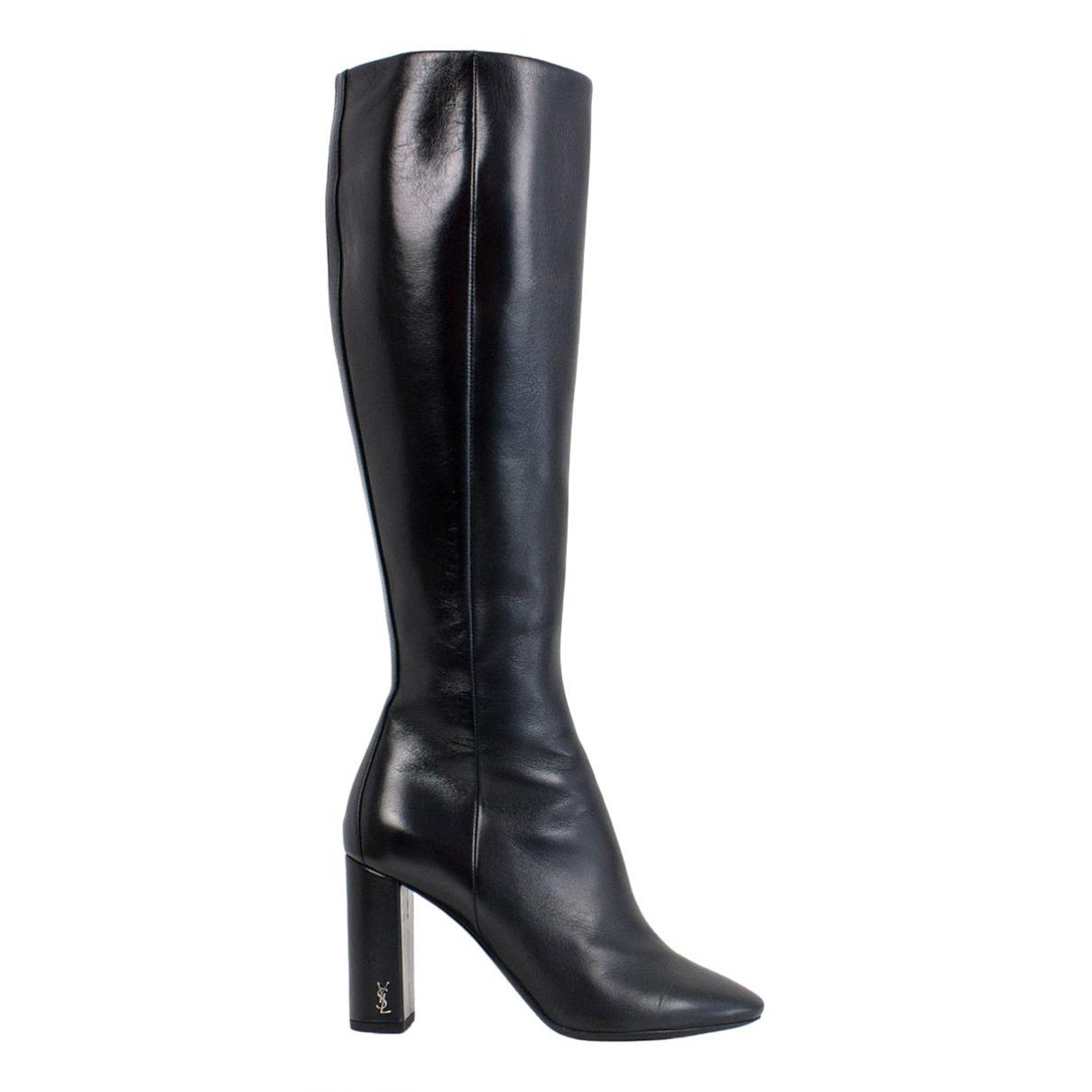 Saint Laurent \N Black Leather Boots for Women 36 EU
