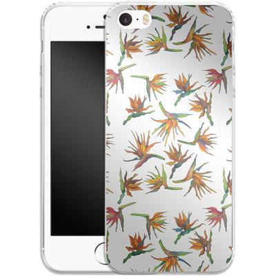 Apple iPhone 5s Silikon Handyhuelle - Paradise Flower Pattern von Kaitlyn Parker