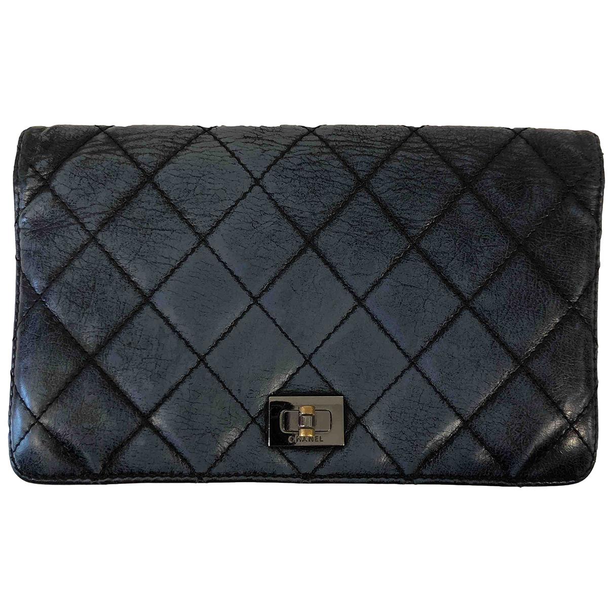Chanel - Portefeuille 2.55 pour femme en cuir - marine