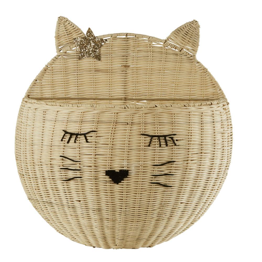 Regal Katze, Rattangeflecht