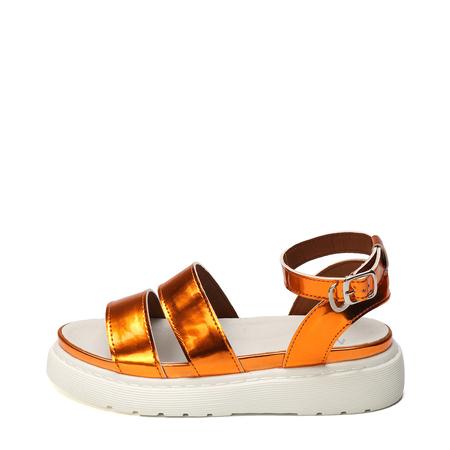 Yoins Orange Platfrom Design Sandals