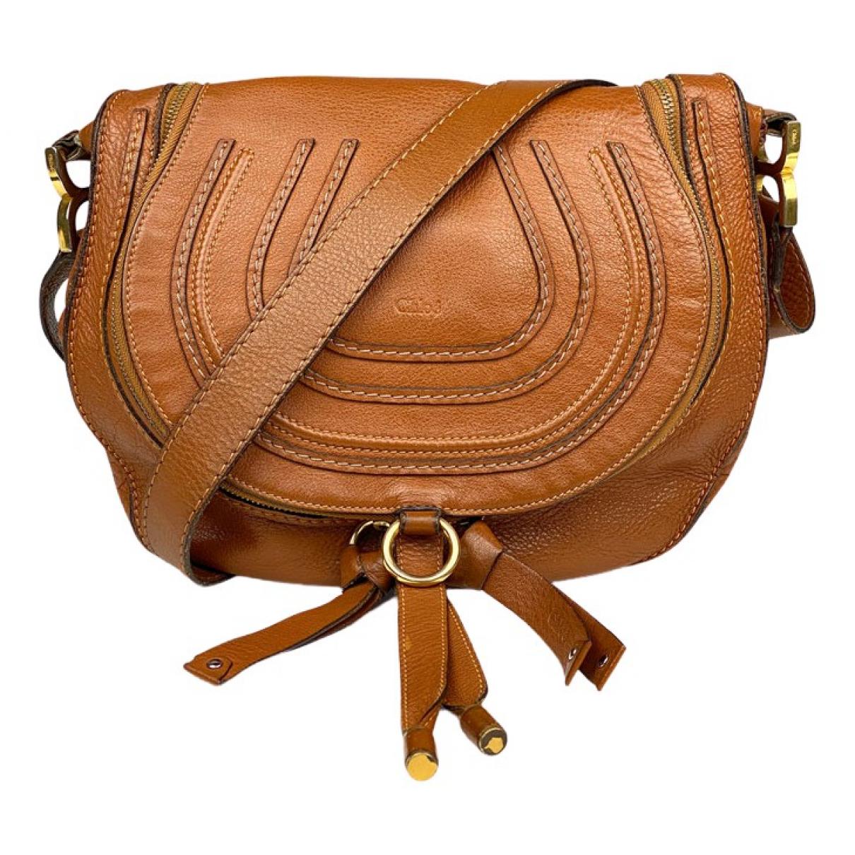 Chloé Marcie Orange Leather handbag for Women \N