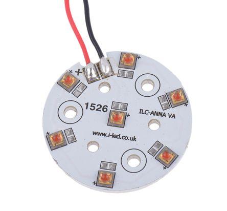 Intelligent LED Solutions ILS ILC-ONA7-HYRE-SC211-WIR200., OSLON 80 PowerAnna Coin Circular LED Array, 7 Red LED