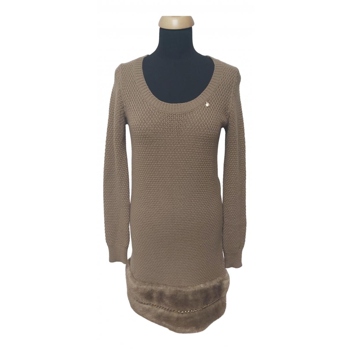 Elisabetta Franchi N Beige Wool dress for Women M International