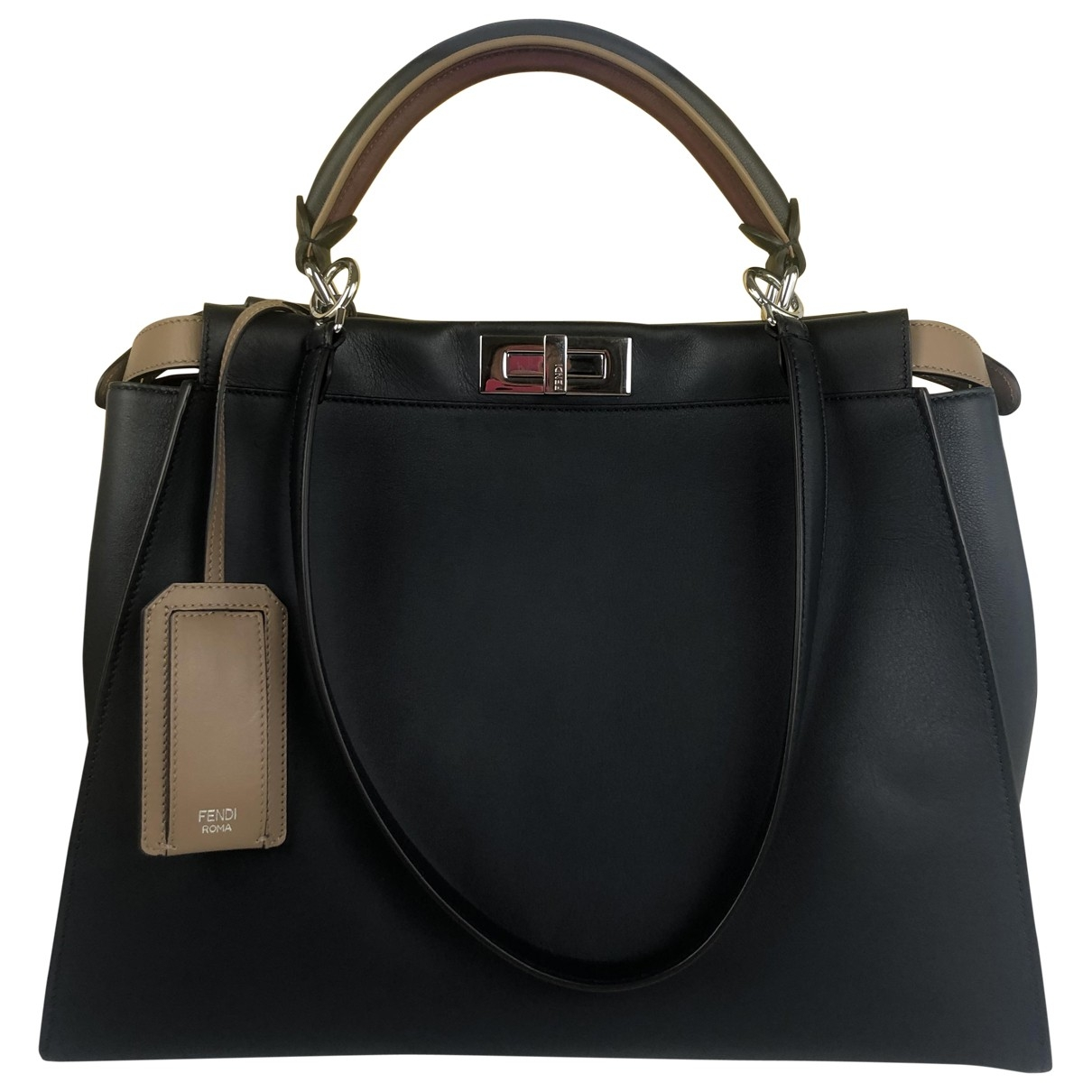Fendi Peekaboo Navy Leather handbag for Women \N
