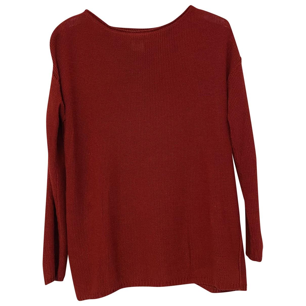 Ralph Lauren - Pull   pour femme en lin - rouge