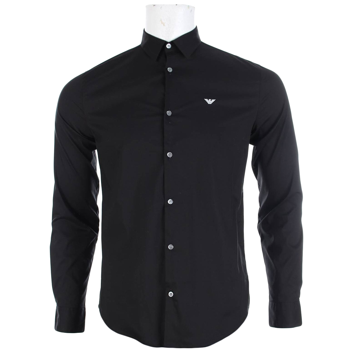 Emporio Armani \N Black Cotton Shirts for Men M International