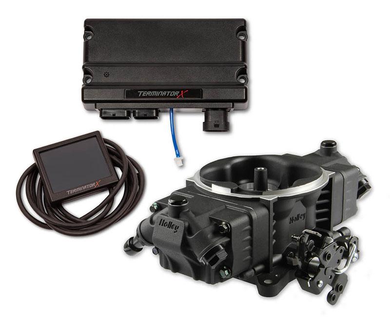 Holley 550-1005 Terminator X Stealth 4150 EFI System Black for Pre-2009 GM 4L60E/4L80E Transmissions