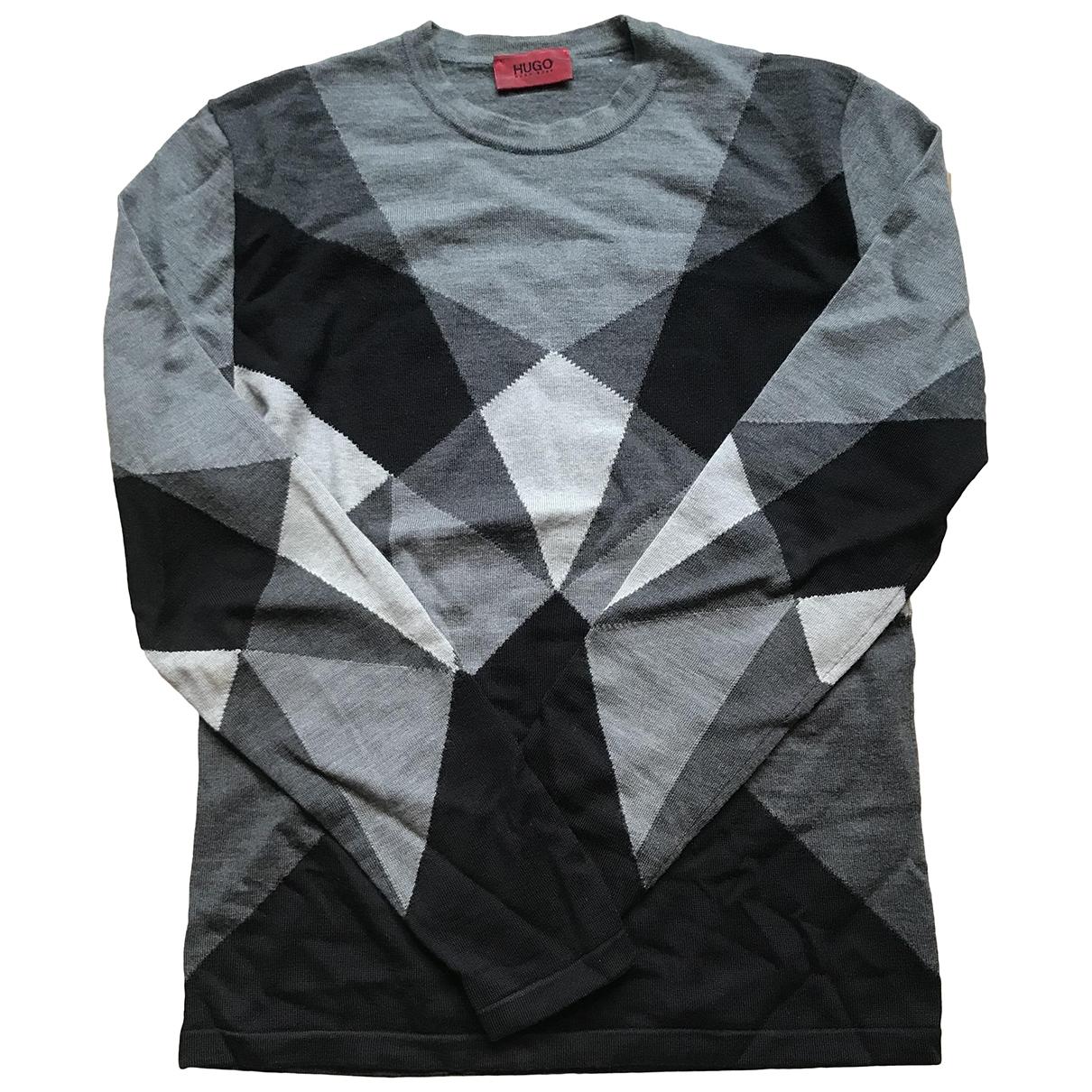 Hugo Boss \N Pullover.Westen.Sweatshirts  in  Grau Wolle
